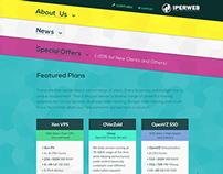 IperWeb homepage redesign