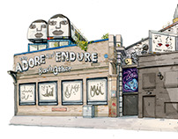 Adore and Endure building, Shoreditch.