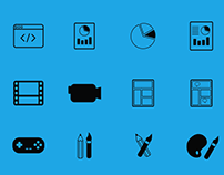 Creative Work Icon Set