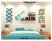 Modern Blue Kid Room