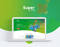 Landing page design for SuperExtra credit card