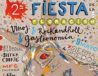 II Fiesta de la floración - poster & postcard