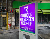 Outdoor Advertising Screen Mock-Ups 11 (v.3)