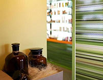 Interior PHARMACY - green concept