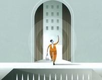 Precedent Magazine Cover Illustration