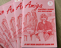 AMIGA -My first fucking corazón roto coloring book.