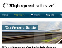 High Speed Rail Travel
