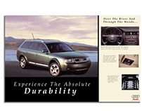 Magazine car ad