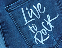 Denim lettering and calligraphy