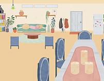 Vectorial livingroom