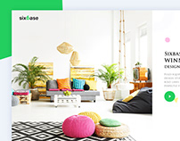 Landing page design for interior design