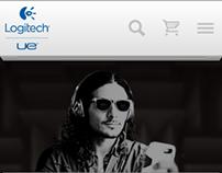 UE Logitech Mobile Site