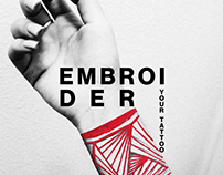 Embroider your Tattoo Poster
