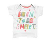 Born To Be Smart / Hand Lettering / Typography