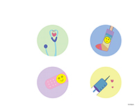 Children's Hospital Icon Set