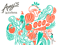 Amy's Kitchen - Tea towel illustration
