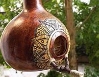 Birdhouse - Mandala Gourd