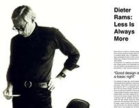 Magazine Layout Design: Dieter Rams