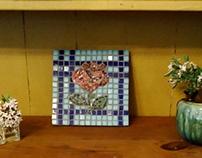 Decorative Mosaic Rose Trivet/Wall Art