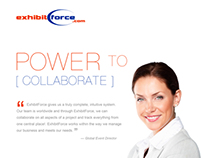 Exhibitforce Magazine Ad for Exhibitor Industry Mag