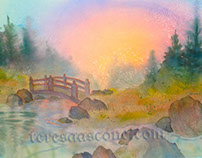 Bridge at Sunset - brief watercolor tutorial
