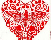 Maryland Bugs - linocuts