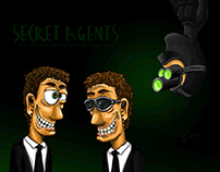 """Secret Agents"" Cartoon Strip"