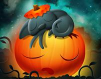 Illustration : Pumpkin Cat