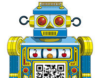 Scan-bot & QRocket Interactive T-Shirt Designs