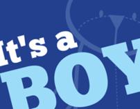 Print - It's a BOY! - Baby Shower Invitation