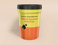 Plastic Container Gallon Paint Pail Mockup