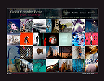 Carlos G. Perez Photographer HTML5 website concept