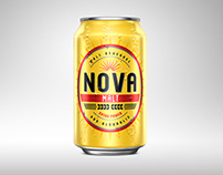Nova Malt 3D Beer Can rendering