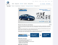Volkswagen - Website Landing Pages