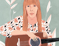 Joni Mitchell Portrait | Illustration