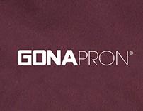 Logos for Local upstart Gonapron