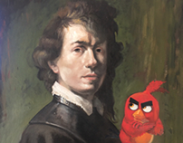 Portrait with Angry Bird
