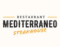 Mediterraneo Steak house menu and logo design