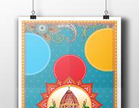 Retro VIntage Carnival Poster Design - Gadwal Utsav