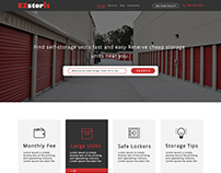 Storage unit web mockup design