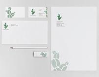 Cactus Flower Coffee Logo/Letterhead