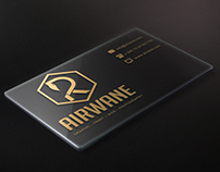 Airwane business card Artwork