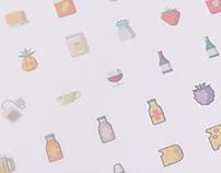 Food & Drinks - Icon Set (free)