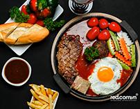 Chụp ảnh món ăn Steak nhà hàng