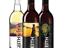 Keith Cellars Wine Labels