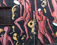 Gods in Love - Wall in Rome - Italy