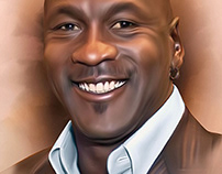 Michael Jordan Digital Art by Wayne Flint