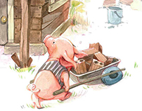 NUBOMEDIA Live Tale's concept art. Three little pigs