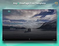 Key.t OnePage Template Website for Sketch - free