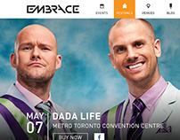 Embrace Presents Website Design